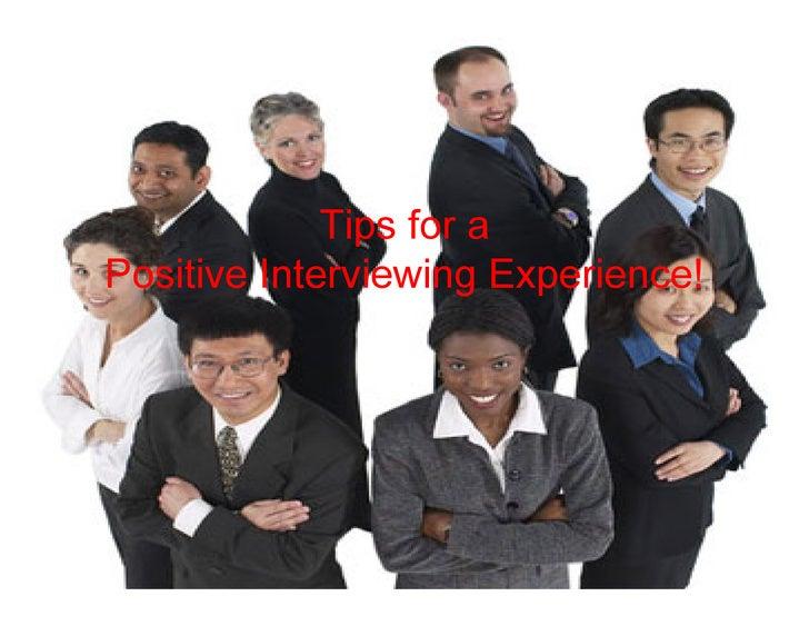 Interview Handling Tips