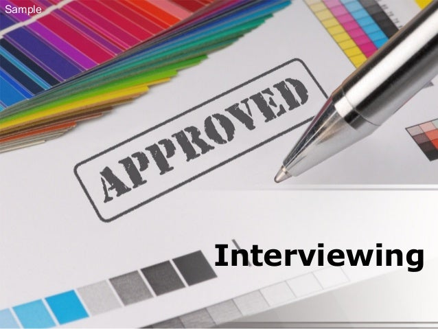 Interviewing Sample