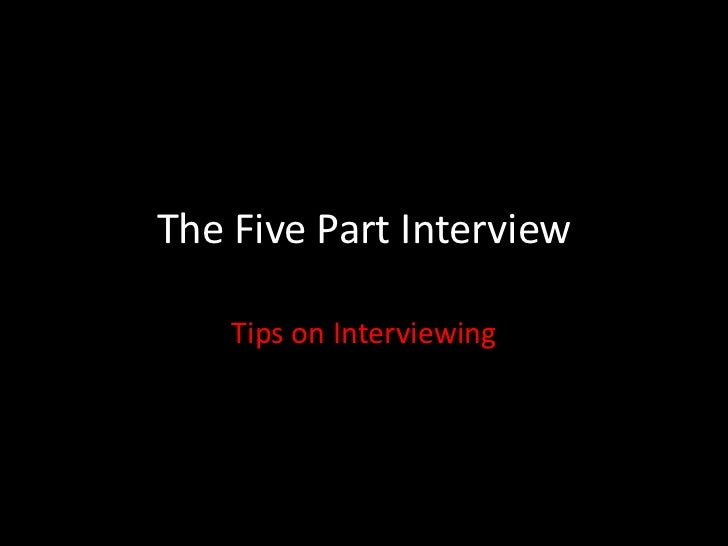 Interviewing PPT