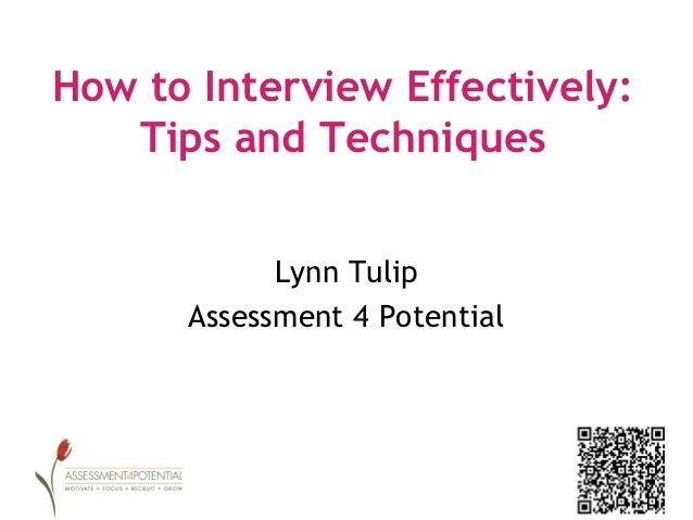 Interviewing principles
