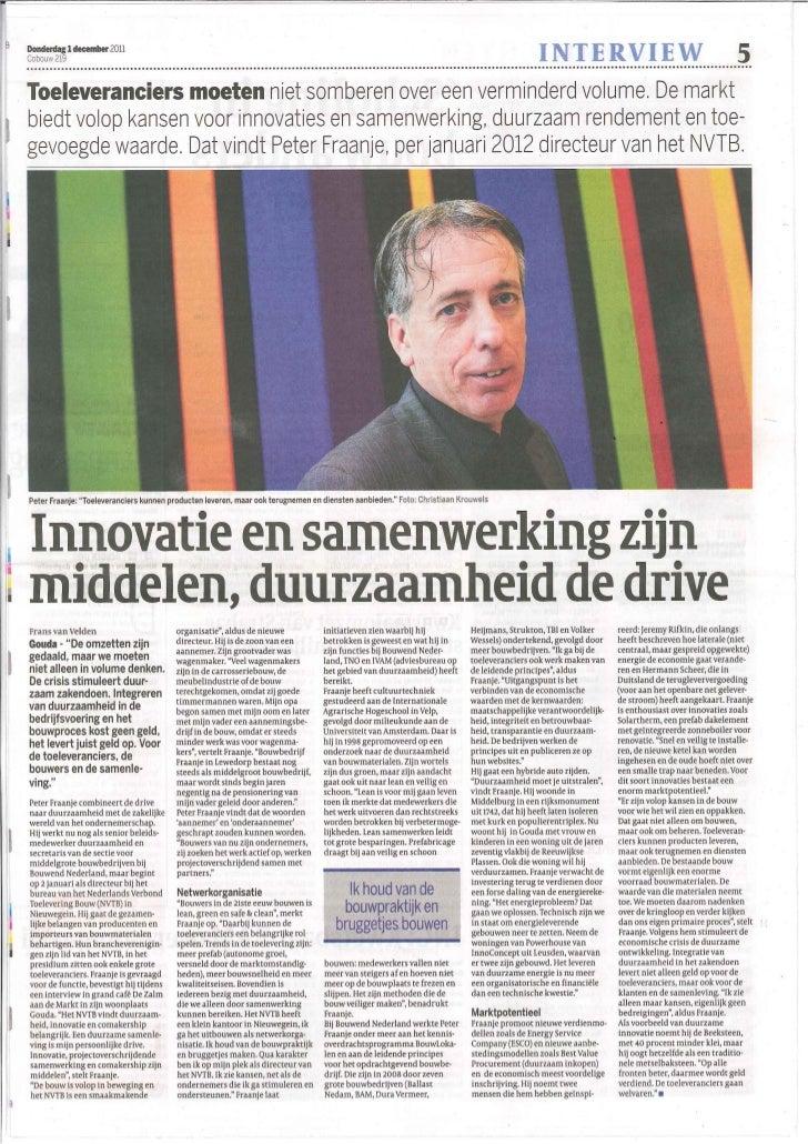 Interview Peter Fraanje011211