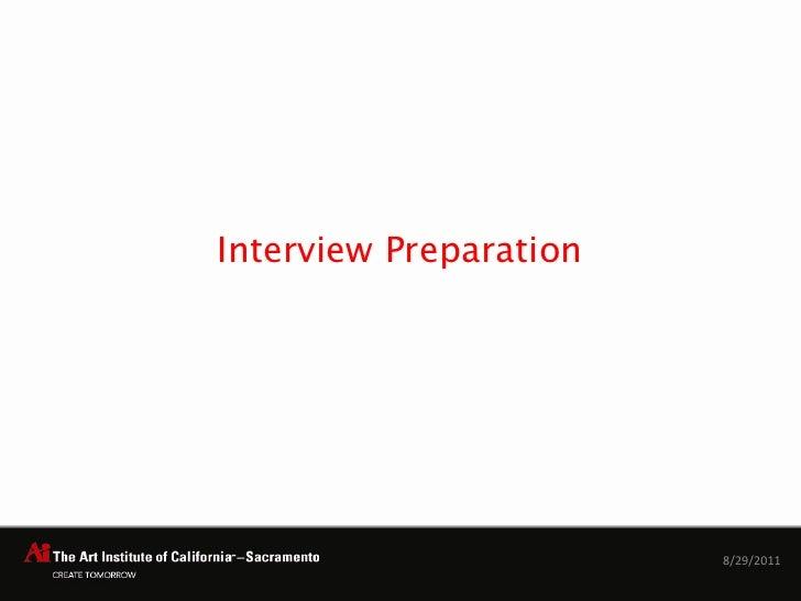 Interview Preparation<br />