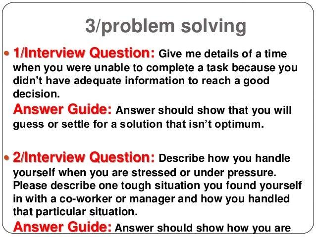 Hard Problem Solving Questions