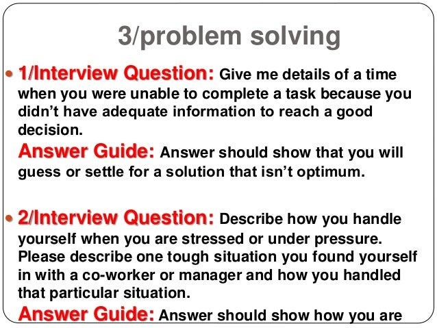 Google problem solving questions