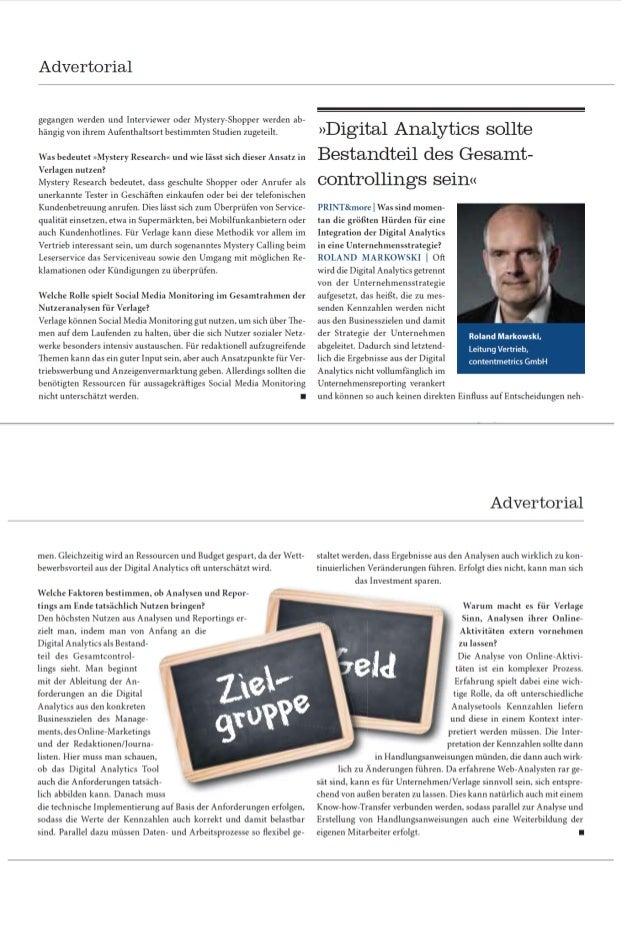 Interview mit Roland Markowski Print & More 01 2014