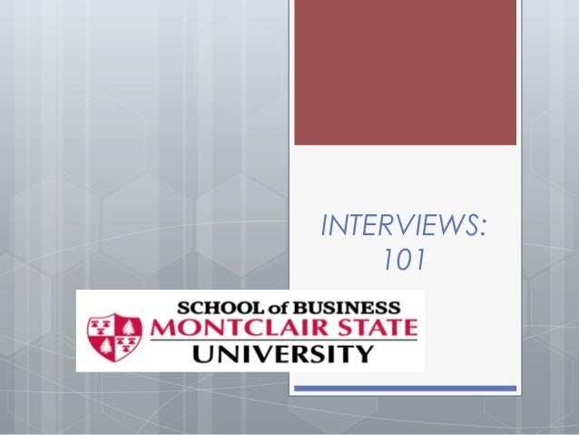 Interviews 101 for blackboard