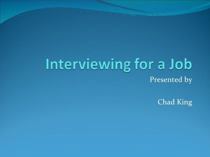 Interview Skills Powerpoint