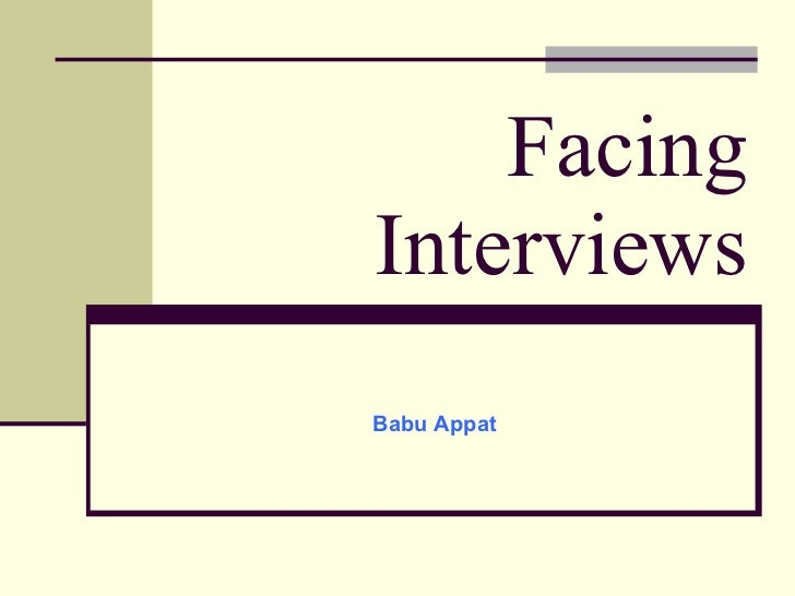 Interview skills 1