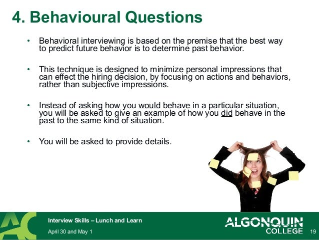 Behavioral Based Interview Questions Critical Thinking