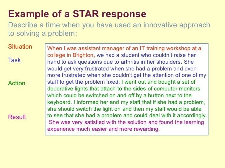 star questions examples