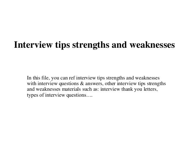 weaknesses interview