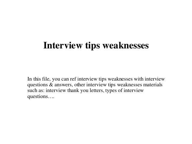 how to answer what are your weaknesses in nursing interview