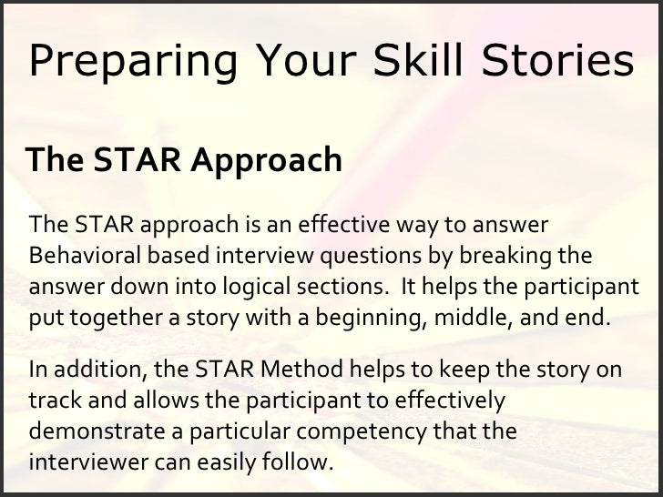 Star Interview Sample Questions