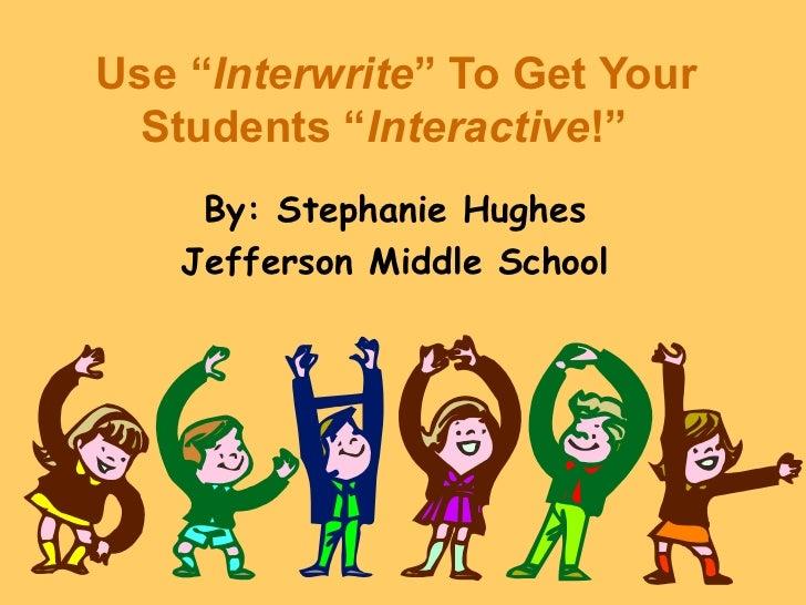 Interwrite training