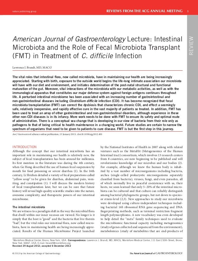 nature publishing group                                                                    REVIEWS FROM THE ACG ANNUAL MEE...