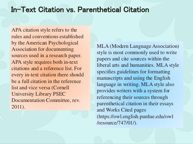 Apa in text citation research paper