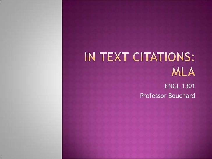 ENGL 1301Professor Bouchard