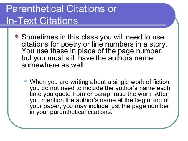 in text citations mla research papers There are three main ways to uses sources in your research paper you may quote you may paraphrase or you may summarize all three require an in-text (parenthetical) citation.
