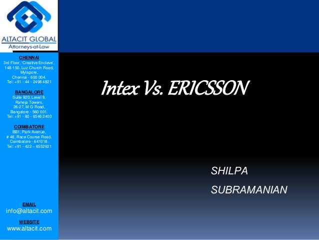 Intex vs. ericsson