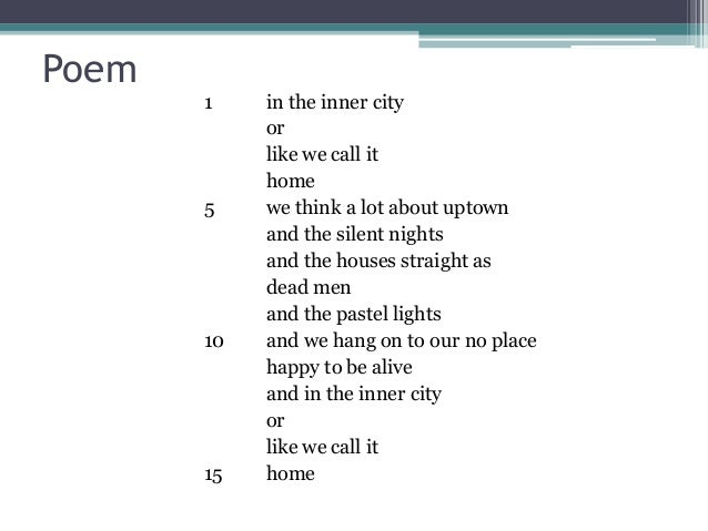 Lucille Clifton in the inner city
