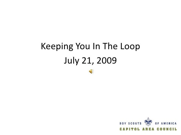In The Loop   July 21 2009   What's Going On With the 100th Anniversary Patch?