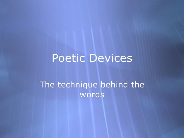 In the Midst of Hardship, Qwertyuiop, Poetic Devices