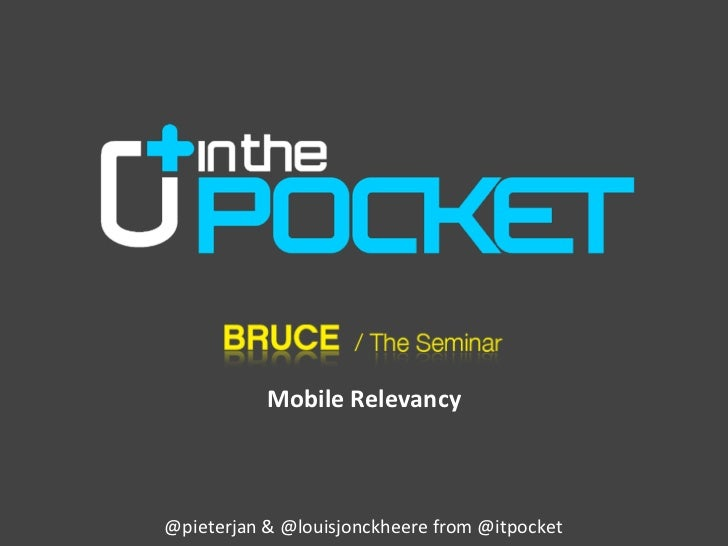 Bruce / The Seminar: In the Pocket