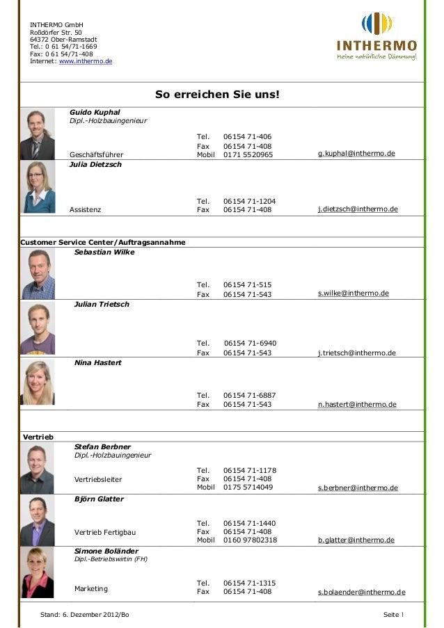 INTHERMO GmbH  Roßdörfer Str. 50  64372 Ober-Ramstadt  Tel.: 0 61 54/71-1669  Fax: 0 61 54/71-408  Internet: www.inthermo....