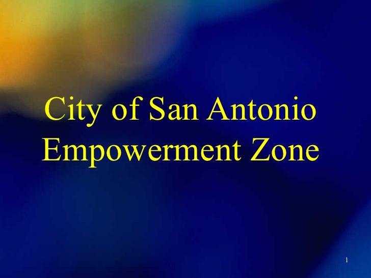 City of San Antonio Empowerment Zone