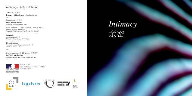 Intimacy Exhibition Book