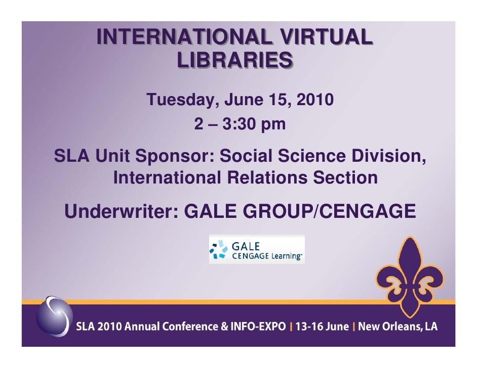 International Virtual Libraries