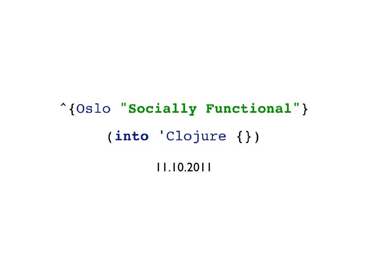 Into Clojure