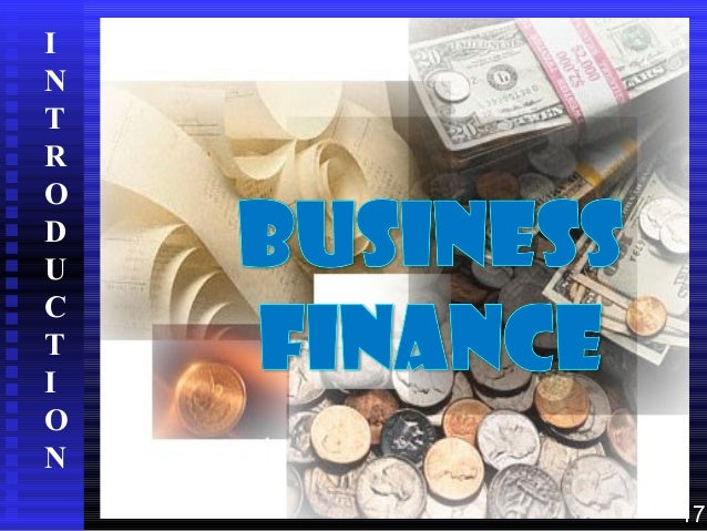 Intoduction to business finance