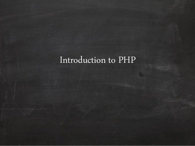 Introduction to php   basics