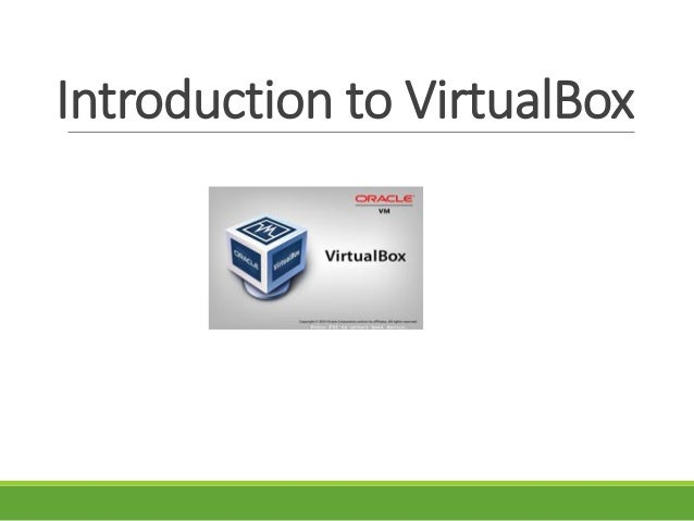 Intoduction to VirtualBox English