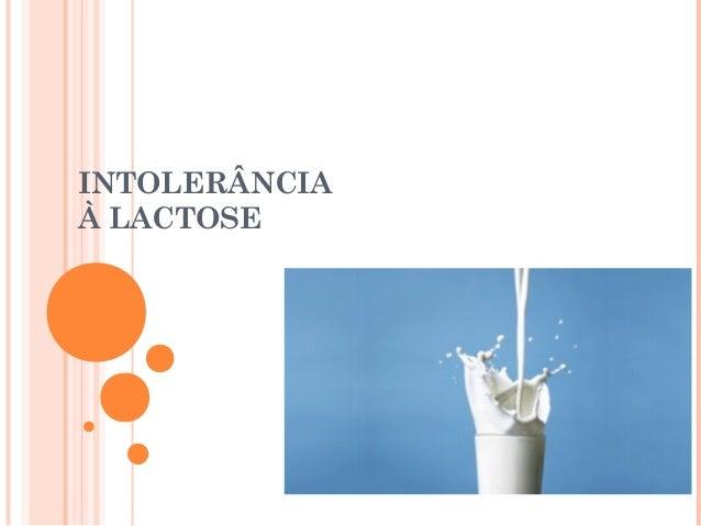 Intolerância á lactose