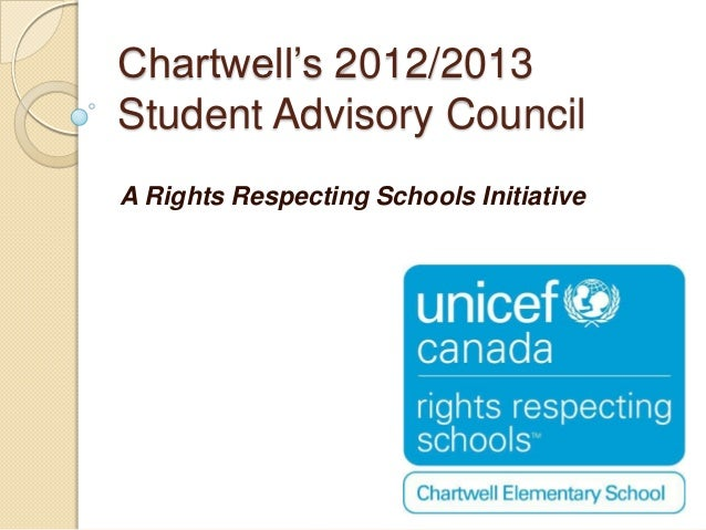 Chartwell's 2012/2013Student Advisory CouncilA Rights Respecting Schools Initiative
