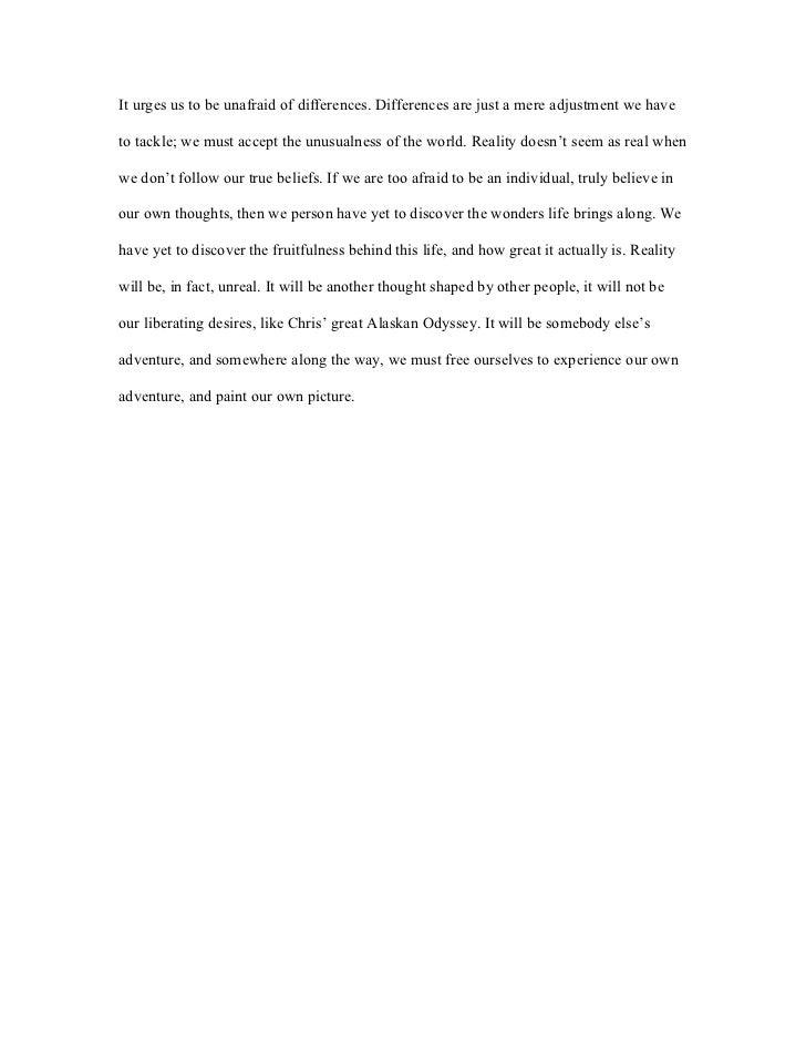 Into the wild essay pdf sample