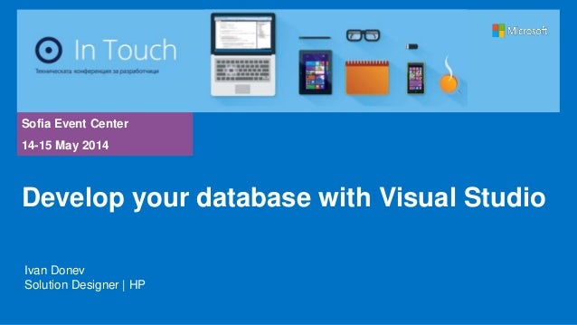 Develop your database with Visual Studio