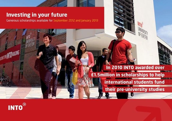 INTO UK Scholarships 2012 2013