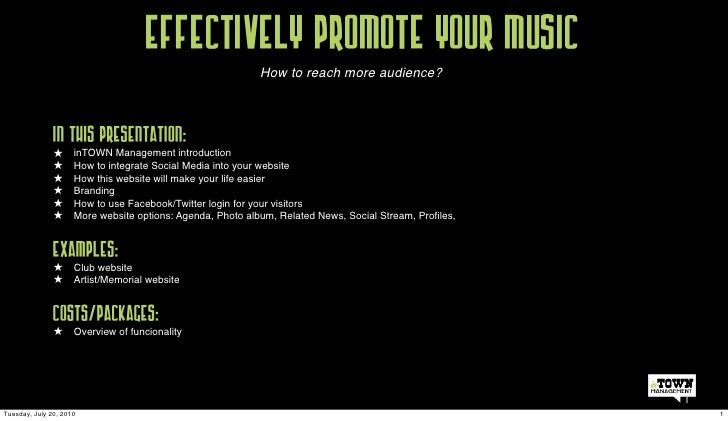 Effectively promote your music                                       How to?                                              ...