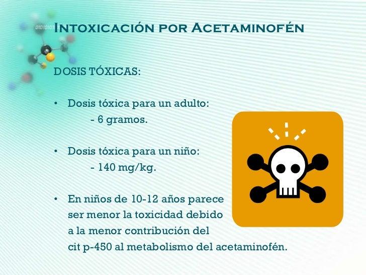 Intoxicación por acetaminofen