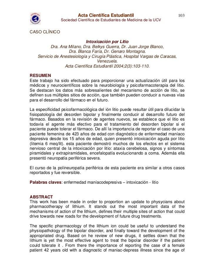 Acta Científica Estudiantil                              103                 Sociedad Científica de Estudiantes de Medicin...