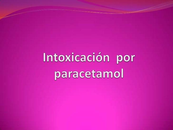Intoxicación  por paracetamol