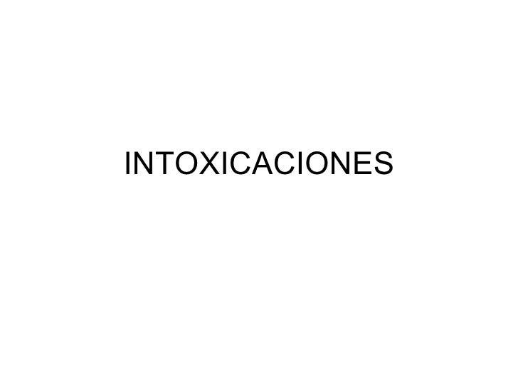 Intoxicaciones Clase