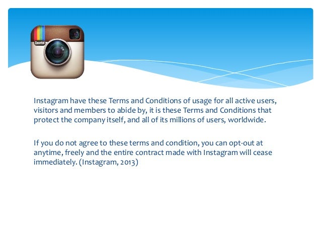 Image gallery instagram terms for Termsfeed