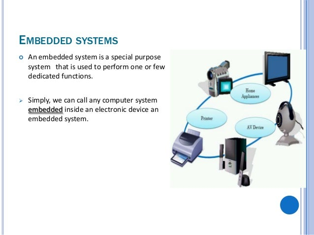 embedded systems designed to perform a Real-time and embedded systems • an embedded system is a computer system designed to perform one or a few dedicated functions, often with real.