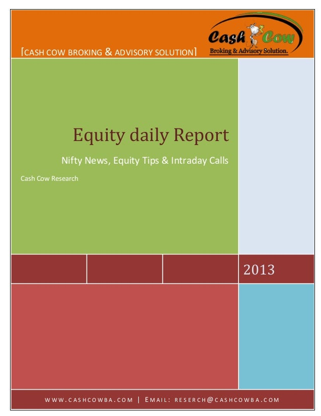 Intraday equity daily report