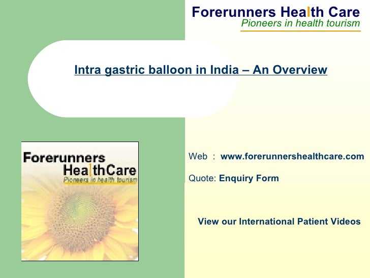 Intra gastric balloon in India – An Overview