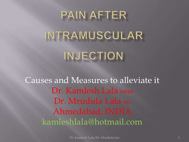Intramuscular injection pain ppt